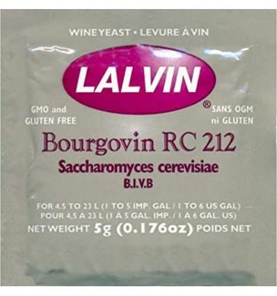 Levadura para Vino Rojo sobre original 5g (Lalvin RC-212)