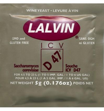 Levadura para Vino Blanco sobre original 5g (Lalvin ICV-D47)